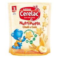 Bánh Ăn Dặm Nestlé CERELAC Nutripuffs Vị Chuối Cam