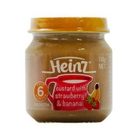 Dinh dưỡng đóng lọ Heinz trái cây 110g 6m+