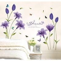 Decal trang trí hoa lan