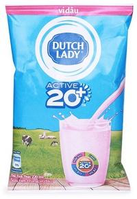 Sữa Tươi Tiệt Trùng Cô Gái Hà Lan Hương Dâu - Bịch 220ml