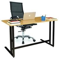 Bộ bàn Oak-U chân đen và ghế IB16A đen IBIE 120 x 60 x 75 cm