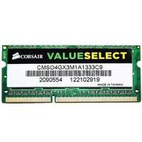 Ram Laptop Corsair 4GB DDR3 Bus 1333 ValueSelect CMSO4GX3M1A1333C9