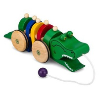 Đồ chơi gỗ Winwintoys 66252 - Xe Kéo Hình Cá Sấu