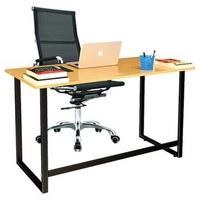 Bộ bàn Oak-F chân đen và ghế IB16A đen IBIE 120 x 60 x 75 cm