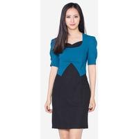 Đầm Tay Ngắn Phối Nơ Ngực The One Fashion DDY1621