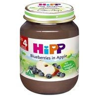 Dinh dưỡng đóng lọ Hipp Dâu tím, Táo tây 125g 4m+
