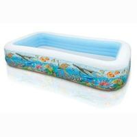 Bể bơi Intex hình chữ nhật hoa văn