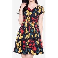 Đầm Xòe Họa Tiết Tay Ngắn The One Fashion DDC1793