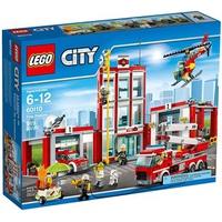 Mô Hình LEGO City Fire 60110 Trạm Cứu Hỏa