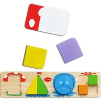 Đồ chơi gỗ Winwintoys 69052 - Bốn hình cơ bản