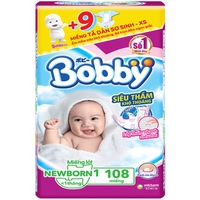 Miếng lót sơ sinh Bobby Newborn dưới 1 tháng 108 miếng