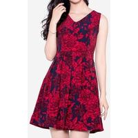 Đầm Xòe Họa Tiết The One Fashion DDC1792