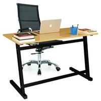 Bộ bàn Oak-Z chân đen và ghế IB16A đen IBIE 120 x 60 x 75 cm