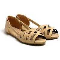 Giày Sandals Đế Bệt Họa Tiết Laser Cindydrella C13