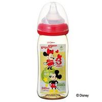Bình sữa Pigeon 240ml nhựa cổ rộng hình Mickey