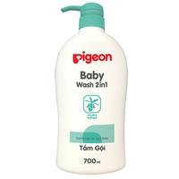 Sữa tắm gội Pigeon jojoba 700ml - xanh