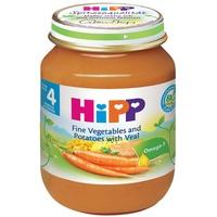 Dinh dưỡng đóng lọ HiPP thịt bê, khoai tây, rau tổng hợp 125g 4m+