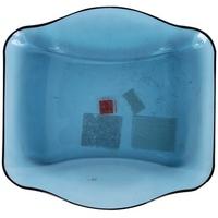 Đĩa Vuông Thủy Tinh Nettuno Blue 19