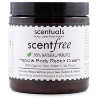 Kem Dưỡng Da Toàn Thân Không Mùi Scentuals Scentfree Hand & Body Repair Cream 250ml