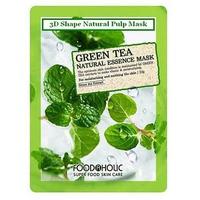 Mặt Nạ Chiết Xuất Trà Xanh 3D Foodaholic Green Tea Natural Essence Mask 23g