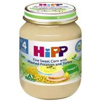 Dinh dưỡng đóng lọ Hipp ngô bao tử, khoai tây, gà tây 125g 4m+
