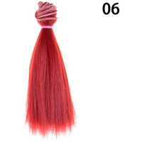 15cm Length Natrual Color Thick Bjd Wigs Doll Hair NO 6 - intl