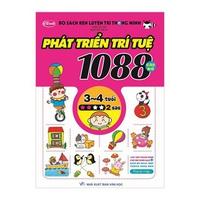 Bộ Sách Rèn Luyện Trí Thông Minh - 1088 Câu Đố Phát Triển Trí Tuệ 3 - 4 Tuổi (Tập 1-4)