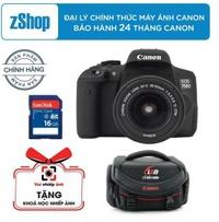 Canon EOS 750D 24.2MP và lens Kit 18-55mm IS STM (Đen) - Chính hãng Lê Bảo Minh + Tặng khoá học nhiếp ảnh EOS + 1 thẻ nhớ 16GB và 1 túi đựng máy ảnh