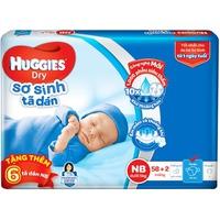 Tã Dán Huggies Dry Newborn NB58 (Dưới 5 kg)