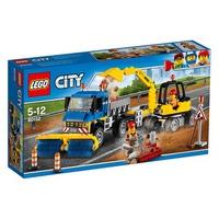Mô hình LEGO City 60152 - Xe quét đường và xe đào đường