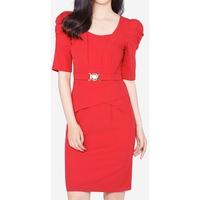 Đầm Nữ Tay Phồng Phối Đai The One Fashion DDY0872