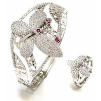 Bộ Vòng Tay Và Nhẫn Bướm Đẹp Kiêu Kỳ Elizabeth SET2-4008
