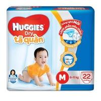 Tã Quần Huggies Dry Pants M22 (6-11Kg)