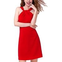 Đầm Ôm Cổ Chéo Phối Ren Hity DRE020