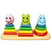 Đồ chơi gỗ Winwintoys 62072 - Bộ xếp hình 3 trụ
