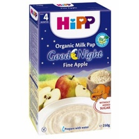 Bột dinh dưỡng Hipp 250g 4m+ chúc ngủ ngon vị sữa táo tây