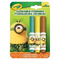 Bộ 3 Bút Lông Minions Tẩy Rửa Được Crayola