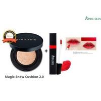 Bộ Mỹ Phẩm April Skin Magic Snow Cushion Black2.0 + Son tint