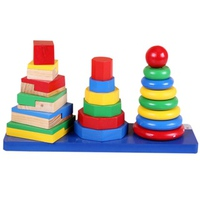 Đồ chơi gỗ Etic C639 - xếp hình khối 3 đỉnh
