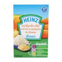 Bột ăn dặm Heinz ngũ cốc cà rốt, phô mai và bắp ngọt nghiền 100g 7m+