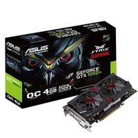 VGA Asus Strix Gaming GTX 1050Ti OC Edition 4GB GDDR5 (STRIX-GTX1050TI-DC2O4G-Gaming)