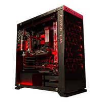 Case IN-WIN 805 Red/Black Type C Aluminium Tempered Glass (Mid-Tower)