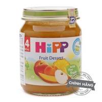 Dinh dưỡng đóng lọ HiPP 125g 4m+ Hoa quả tráng miệng