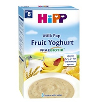 Bột dinh dưỡng Hipp 250g 8m+ sữa chua hoa quả nhiệt đới
