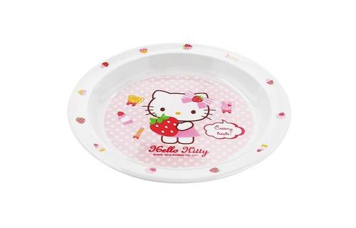 Đĩa tròn bằng nhựa Hello Kitty LKT460- Ø190 x 22mm