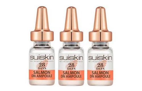 Combo 3 chai Tinh chất Tế bào gốc DNA Trứng Cá Hồi tái tạo, phục hồi da Suiskin Salmon DN Ampoule 28 days 2ml/chai