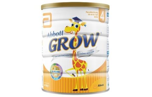Kết quả hình ảnh cho Sữa bột Abbott Grow số 4 900g