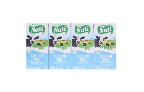 Sữa tiệt trùng Nutifood Ít Đường 180ml
