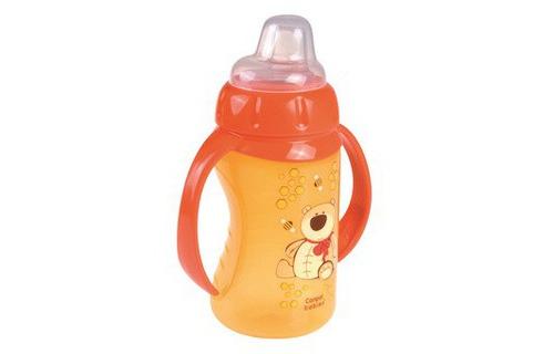 Cốc tập uống núm silicone có tay cầm Canpol Babies 320ml