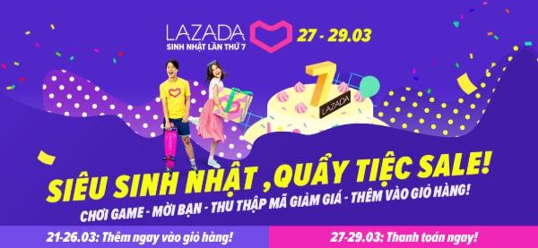 Đại tiệc Sinh nhật Lazada lần thứ 7 sắp diễn ra hoành tráng
